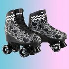 Внешний вид - Cal 7 Roller Skates Indoor Outdoor Skating Graphic Faux Leather Boot PVC Frame