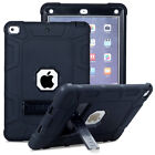 For iPad 9.7 2017 5th Gen Shockproof Hybrid Case Kickstand Protective Hard Cover