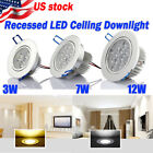 US Ocean 6/12X 3W/7W/12W LED Downlight Ceiling Recessed Light Bult Lamp 110-220V