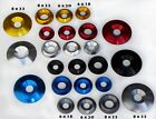 10-pack Aluminum Conical Washers  8mm & 6mm I.D.  18mm, 20mm, 22mm O.D. anodized