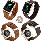 Genuine Leather Bracelet Strap Watch Band For Apple Watch 38