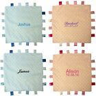 PERSONALISED BABY TAGGY TAGGIE BLANKET COMFORTER BOY GIRL GIFT TAG SOFT MIDDLE