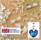 Pendant Bail Pinch 925 Sterling Silver Polished Jewellery