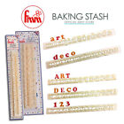 FMM Tappits - Art Deco Alphabet Cake Cutters - Upper Case & Numbers / Lower Case