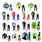 Outdoor Sports Men's Long Sleeve Cycling Jersey and Bib Shorts Set Gel Pad Size