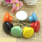 Candy Color Ceramic Round Cabinet Wardrobe Drawer Home Cupboard Knob Pull Handle