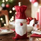 Christmas Santa Claus Wine Bubble champagne Bottle Cover Bag Gift Cutlery Pouch