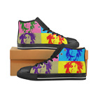 Bob Marley PopArt Design High top Men's Canvas Sneakers Black Shoes
