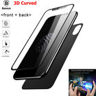 For iPhone X Genuine Baseus 360° Front & Back 3D Tempered Glass Screen Protector