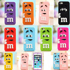 3D Cartoon M&M'S Chocolate Soft Silicone Phone Back Case Cover Skin For iPhone