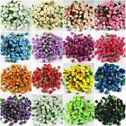 10X 100X Roses Artificial Silk Flower Heads Party Wedding Home Decor Wholesales