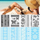 White Body Tattoo Sticker Temporary Waterproof Flower Lace Wrist Ankle Art Decal $1.28 USD on eBay