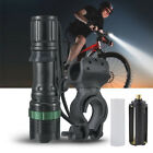 15000LM XML T6 LED 3 Modes Zoomable Bike Bicycle Front Flashlight 360°Mount Clip