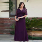 Long Lace Chiffon Groom Suits Plus Size A Line Mother of the Bride Dress Custom