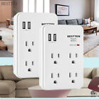 electrical socket usb - Electrical 4 Outlet Socket Surge Protector with 2 USB Port Wall Tap adapter 450J