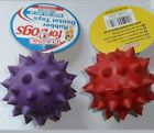 Classic for Dogs ~ Hard Wearing Rubber Dental Spike Ball with Bell ~ 90mm