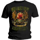 Five Finger Death Punch T Shirt Trouble Locked & Loaded Official Licensed Black