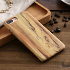 Luxury Wood Grain PU Leather Back Phone Case Cover For iPhone X 6/7/8 Plus S7 S8