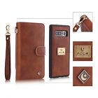 Wallet PU Leather Credit Card Holder Flip Mirror Case For Samsung Note 8/S8+/S7