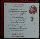 """Handmade 6"""" Square Personalised To Daddy or Mummy From Baby Bump Birthday Card"""