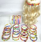 "LOT OF 12 -BEAUTIFUL GIRL'S PLASTIC HAIRBANDS W/ TEETHS  3/4 "" WIDE  6 COLORS"