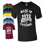 50th Birthday Gift T-Shirt Made in 1968 Being Awesome Age 50 Years Mens Ladies