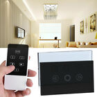 AC 110-240V LED Light Dimmer Switch Wireless RF Remote Control Glass Touch Panel