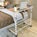 Adjustable Laptop Computer Table Standing Desk Movable Sofa Bedside Cart Tray