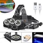 40000LM 5X XM-L T6 BED Rechargeable USB Headlamp Headlight Flashlight Torch BE