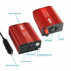 300W 150W Dual DC 12V to 110V AC Outlets Power Inverter Car Adapter 2 USB Port
