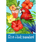 Welcome Parrot and ice cream Garden Flag Double-sided House Decor Yard Banner