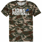 Detroit Lions Youth Camo Sublimated Synthetic T-Shirt - NFL