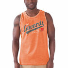 G-III Sports by Carl Banks Carl Edwards Orange A Frame Burnout Tank Top