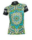 MIMO DESIGN FLORAL MANDALA Woman's Cycling Jersey Short Sleeve