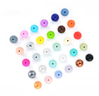 10Pcs Silicone Beads Loose Teething Chew Jewelry Teething Necklace Teether DIY