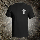 Cross graphic tee shirt jesus christian god inspiration holy bible acts crucifix