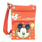 Disney Mickey Mouse Flat Neck Small Crossbody Bag Wallet with Clear ID Holder image
