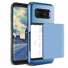 Wallet Shockproof Credit Card Holder Cover Case For Samsung Galaxy S8 / S8+ Plus