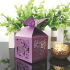 Creative Butterfly Ribbon Wedding Favours Party Gift Candy Paper Box 50 Pcs BJK0