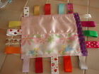 Baby/Toddler Tinkerbell Satin Handmade Taggie/Snuggle&18 Satin/Mixed Ribbons.