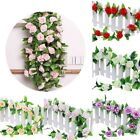2.4M Artificial Ivy Vine Silk Flower Fake Hanging Garland Wedding Home Decor