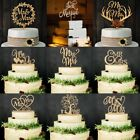 New Vintage Wooden Mr & Mrs Bride and Groom Wood Cake Topper Wedding Party