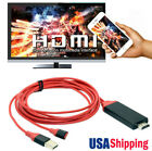HDMI Video Adapter AV Cable for Apple iPad iPhone 8 X 6 7 7 Plus 6 6S 5 5S to TV