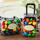 Plastic Suitcase Chocolate Sweets Candy Gift Boxes Wedding Party Favor Box Gift