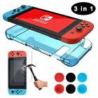 Nintendo Switch Hard Case + Ultra HD Glass Screen Protector + Thumb Grips Caps