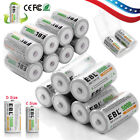EBL Ni-MH C D Size C D Cell Rechargeable Batteries High Capacity 5000/10000 mAh
