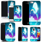 hard durable case cover for samsung  other mobile phones dolphin moon