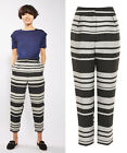 TOPSHOP New Stripe Peg Trousers in Monochrome