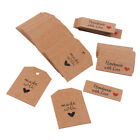 100X Vintage Kraft Paper Gift Tags Love Card Wedding Scallop Label Luggage Decor