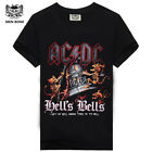 Men's ACDC Rock Awesome Looking heavy metal t shirt Hell's Bells